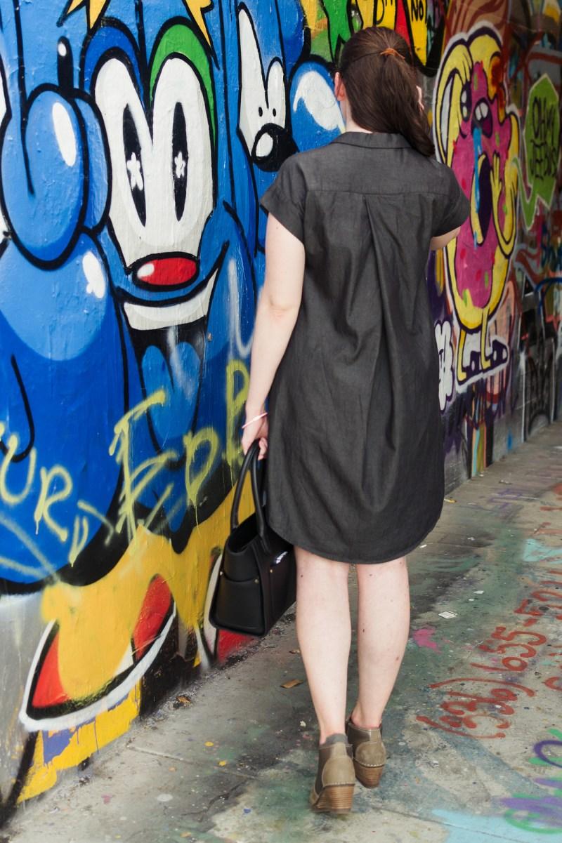 Jenny Maker Black Tencel Denim Shirtdress-2