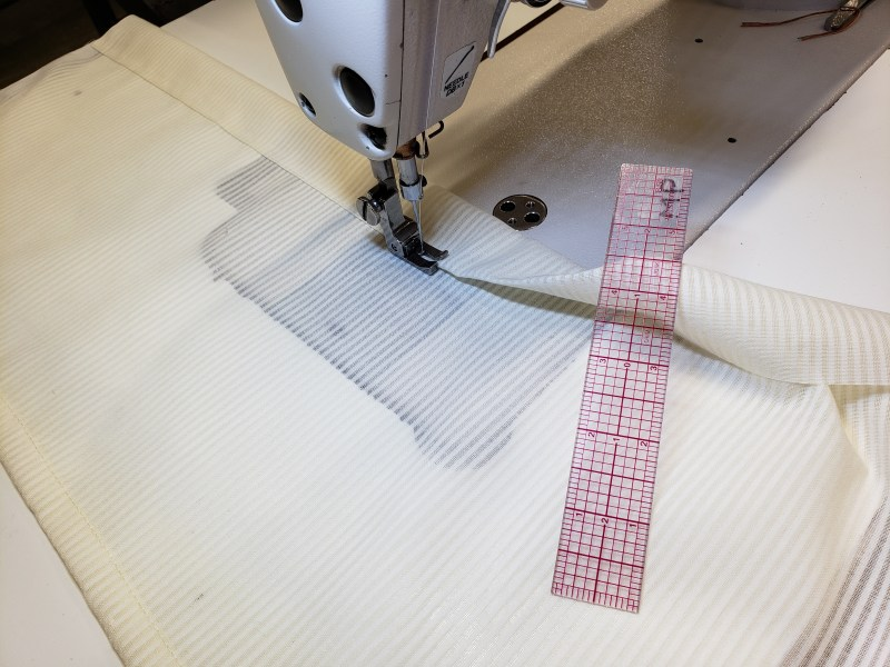 creating casing on curtains
