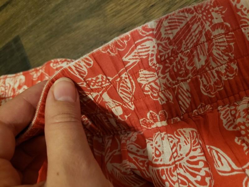 old skirt waistband