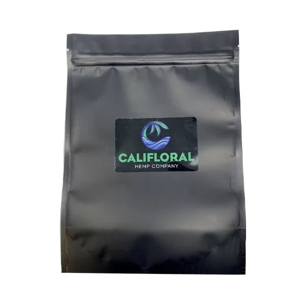 califloral hemp cbd joint back ziploc smell proof bag