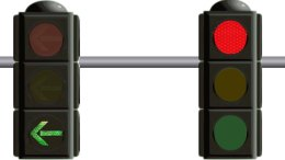 Left turn arrow signal - United States