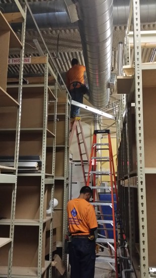 Installing new ducting