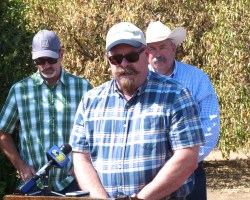 Harlan Ranch Pushes Citrus Trees Due to No Water