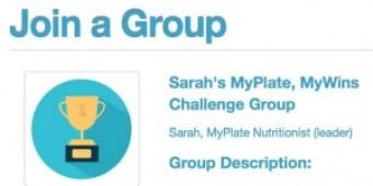 Sarah's MyPlate, MyWins