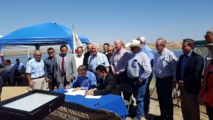 Historic July 1, 2016 MOU Signing for Temperance Flat Dam