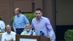 Boxer Jose Ramirez Presents Check to SJVWIA