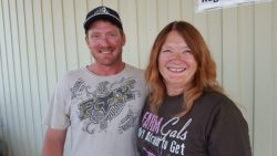 Jared Allred and Diane Laub grape growers