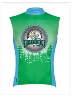 An image of the sleeveless men's jersey from the 2018 Deathride.