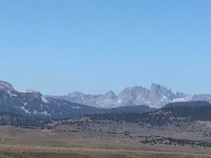 Looking east from the Owens Valley towards Mammoth Lakes.