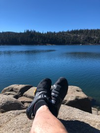 A quick rest at Lower Blue Lake