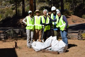 Adopt-a-Highway crew with the Oct. 2019 haul