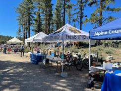 We brought a few trail bikes to show to the attendees. Trails aren't just for hiking, right!?