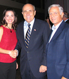 Jim Borax with NYC Mayor Rudy Giuliani