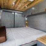 camper van bed area.