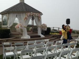 Wedding ceremony DJ Ritz Carlton Half Moon Bay