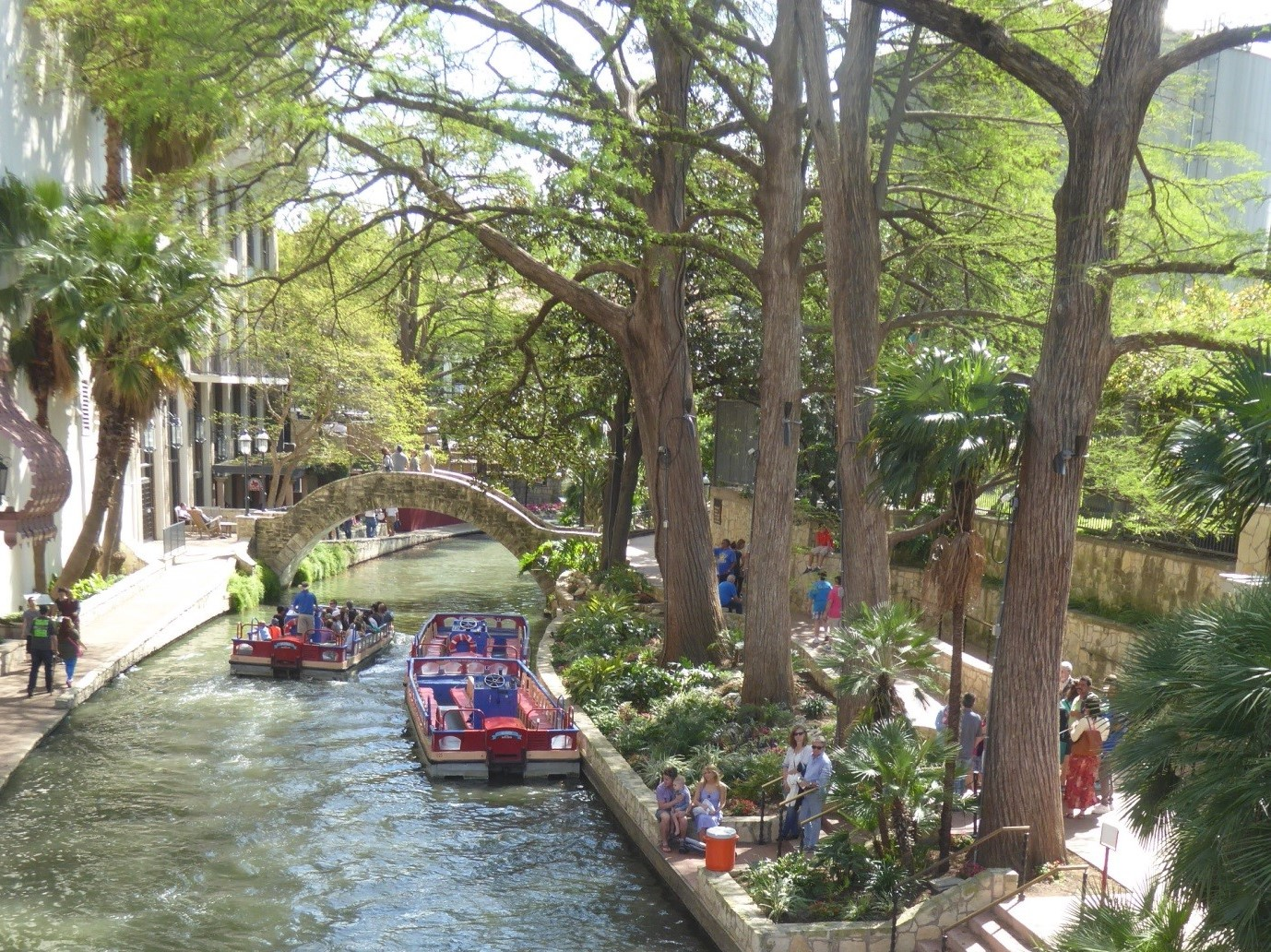 River Walk in San Antonio, a major tourist attraction in one of the biggest cities in Texas
