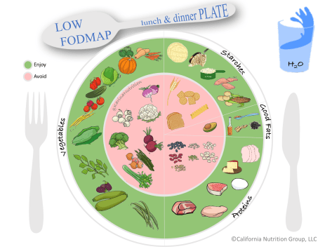 Low-FODMAP plate image - lunch and dinner