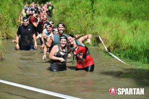 Megan Zavieh, left, Spartan Race