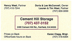 Cement Hill Storage