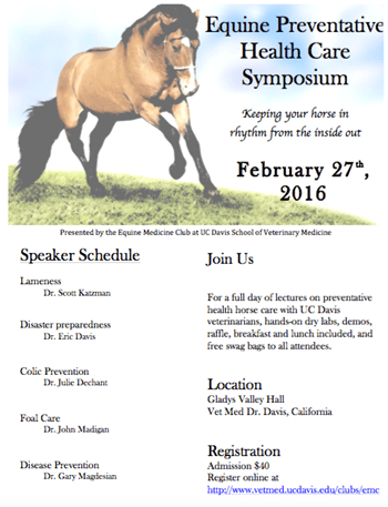 Equine Health Care Symposium Feb 27, 2016