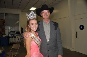 Miss CSHA Mekensey Middleton and CSHA President Jim Hendrickson