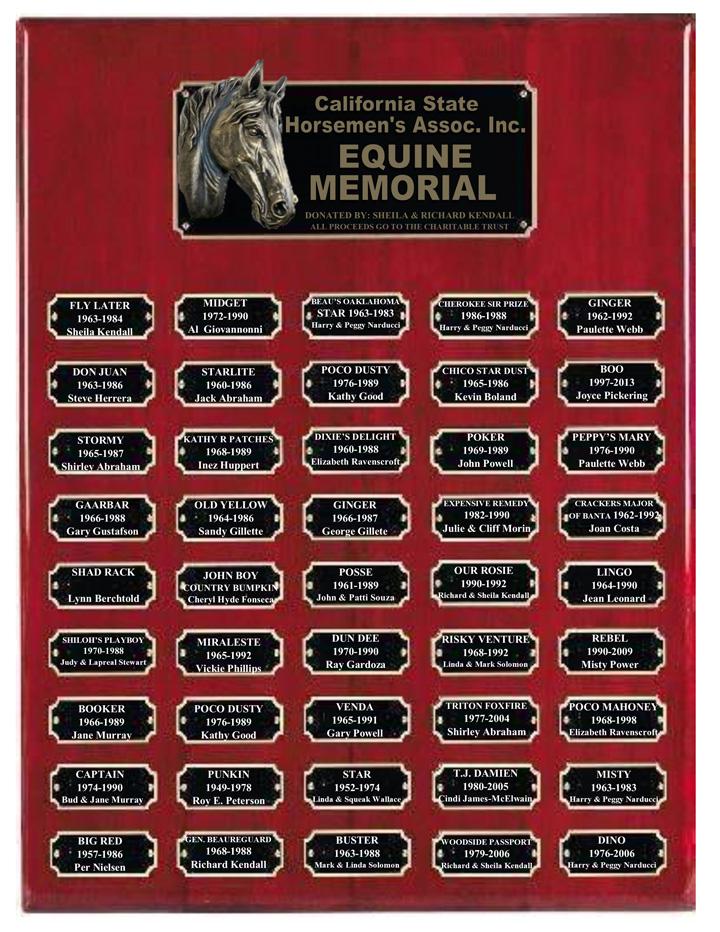 Equine Memorial Plaque