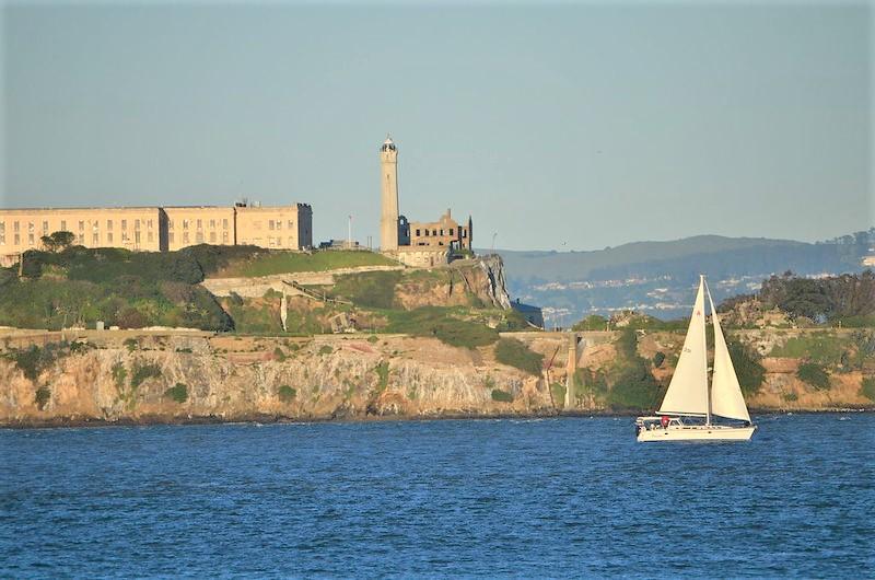 Alcatraz is a California landmark in the San Francisco Bay