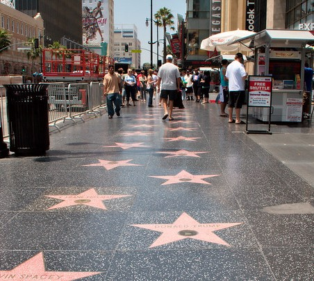 The Hollywood Walk of Fame is a California Landmark