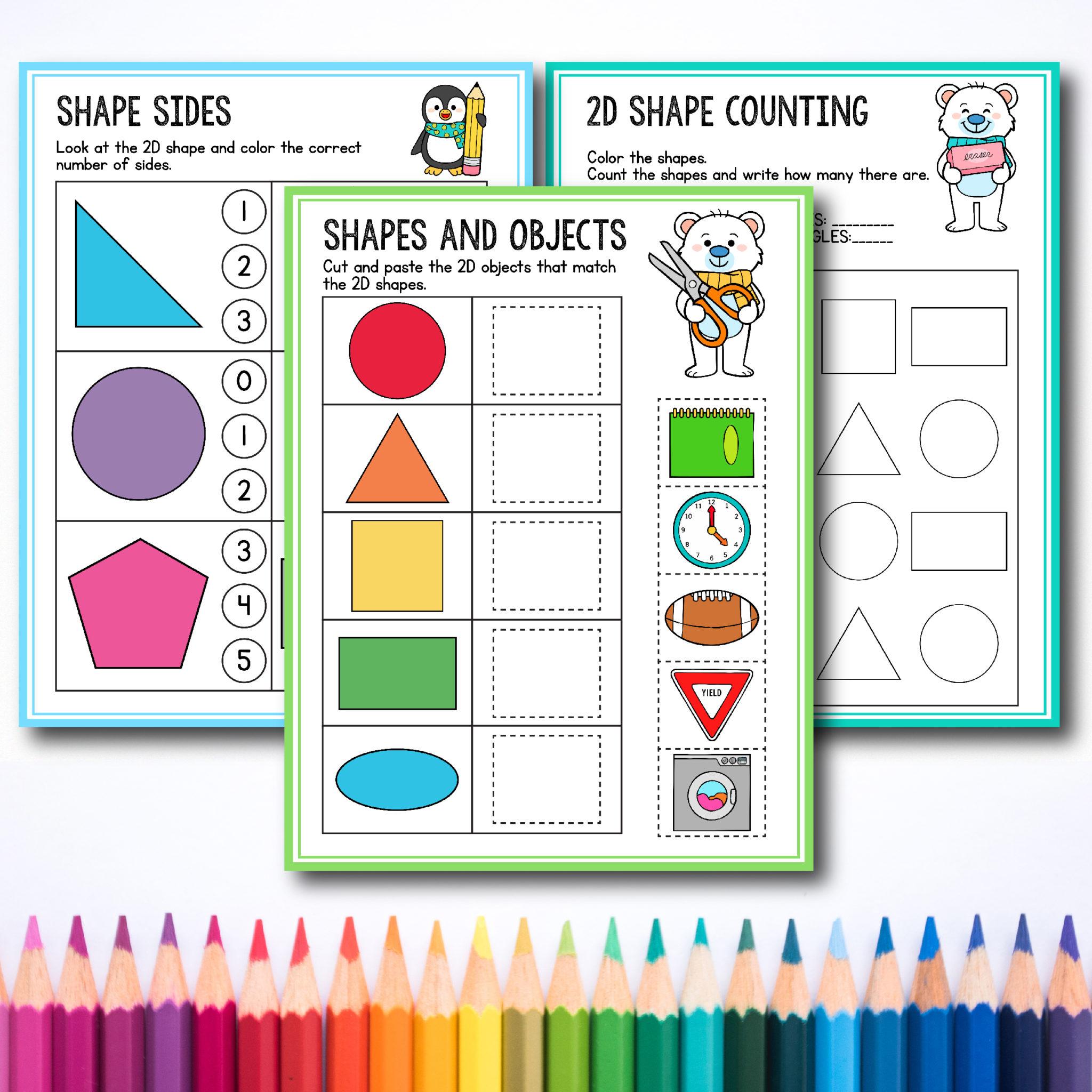 Free Preschool Amp Kindergarten Shapes Worksheets For