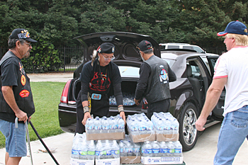 San Joaquin Native American Veterans Lodge Donates Bottled Water to CVMT's USDA Food Distribution