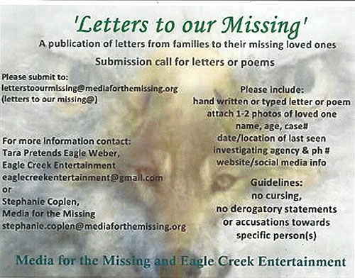 "The Book ""Letters to Our Missing"" - For Native Families Who Have a Missing Loved One"