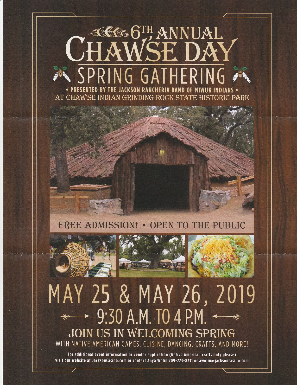 6th, Annual Chaw'se Day Spring Gathering, May 26th-27th, Pine Grove, Ca.