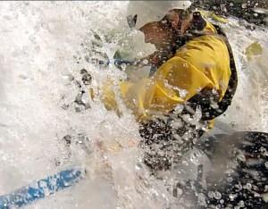 Steel enters Triple Threat - class 3 rapids.  Photo/Eric Holmes