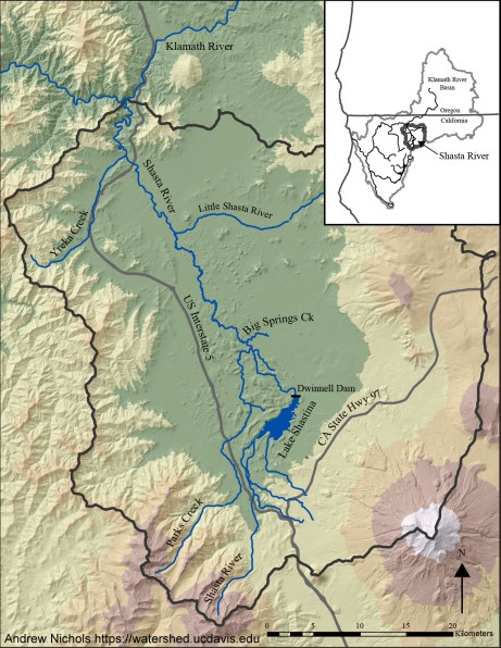 Shasta River watershed. Source: Andrew Nichols, UC Davis