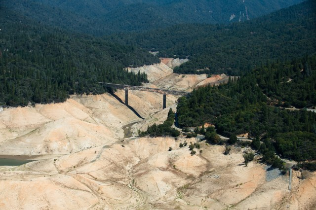 The south fork of Lake Oroville, California's second largest reservoir, in September 2014. Photo by Kelly M. Grow/California Department of Water Resources.