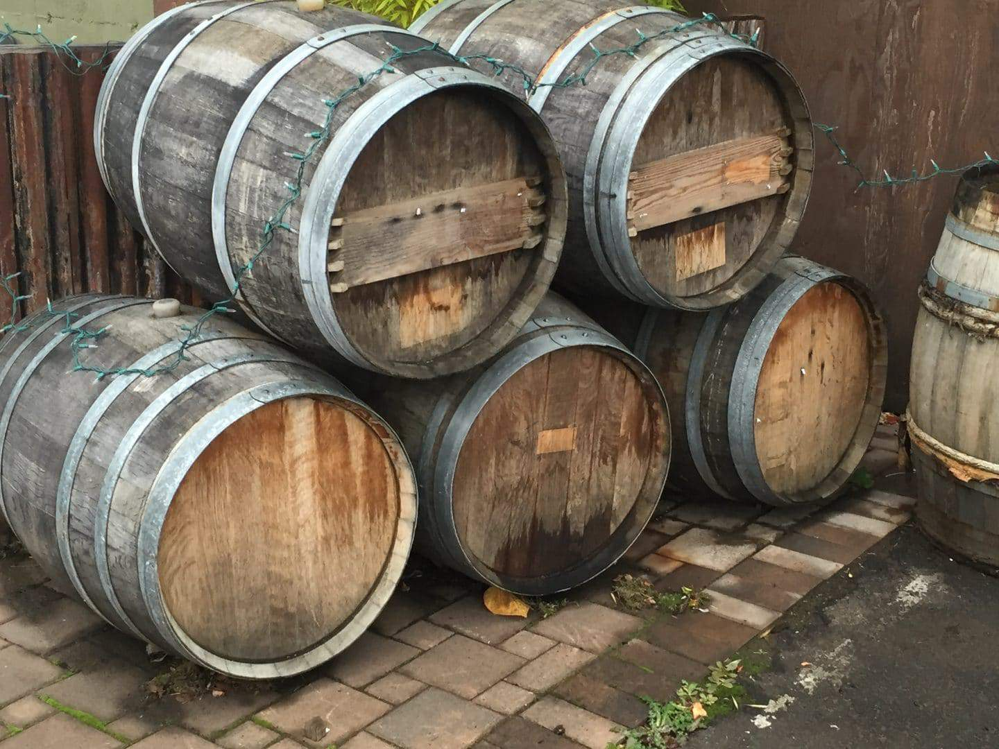 California wine barrels