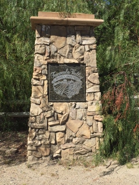 Temecula Valley Wine Country marker