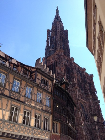 La cathédrale Notre Dame à Strasbourg.