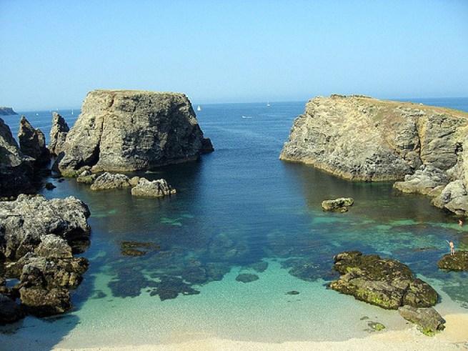 La Pointe des Poulains à Belle île en Mer.