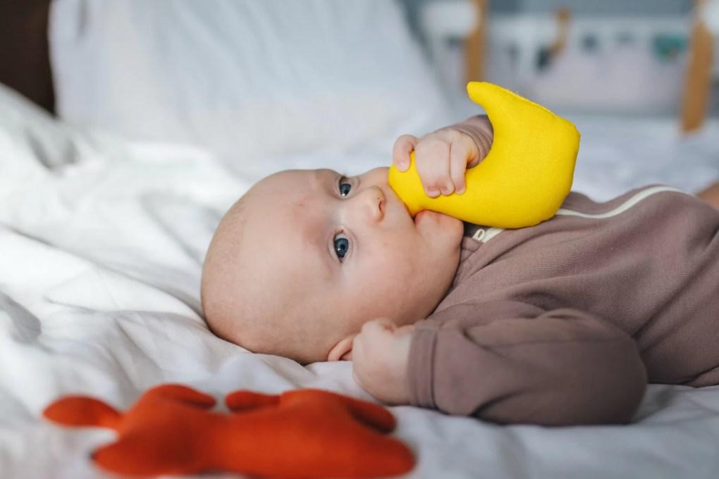 dents bébé hochet