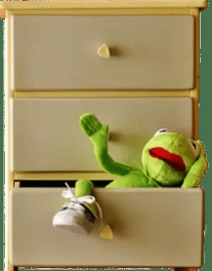Cabinet, Commode, Kermit, Tiroir, Drôle