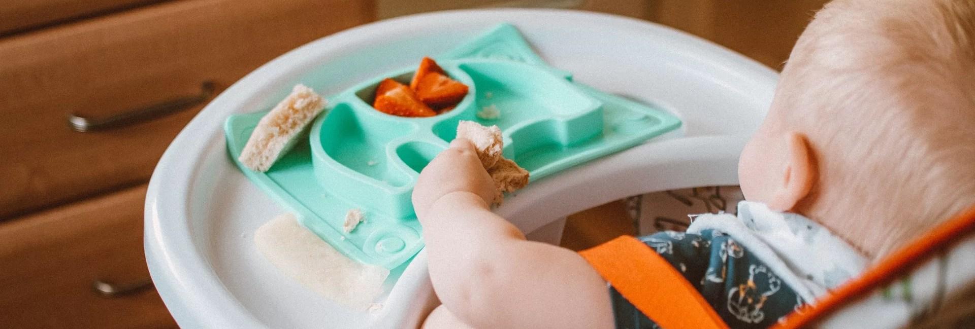 assiette bébé silicone : assiette compartimentée