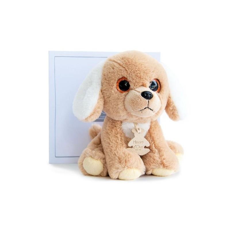 doudou histoire d ours chien marron ho2660 peps prairie pantin