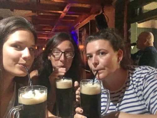 Beer with straws in uzbekistan
