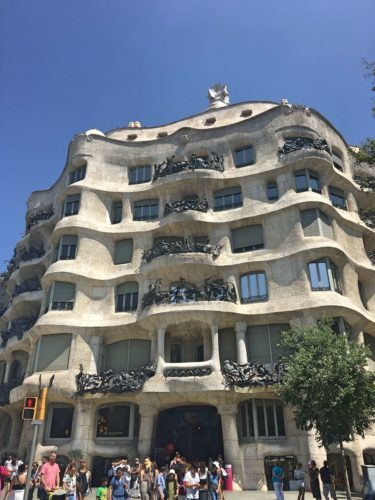 Casa Mila on my Gaudi Free walking tour