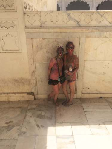 Holi at Agra Fort