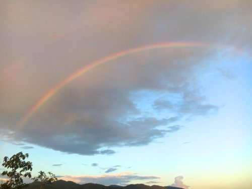 Rainbow over Pai Canyon