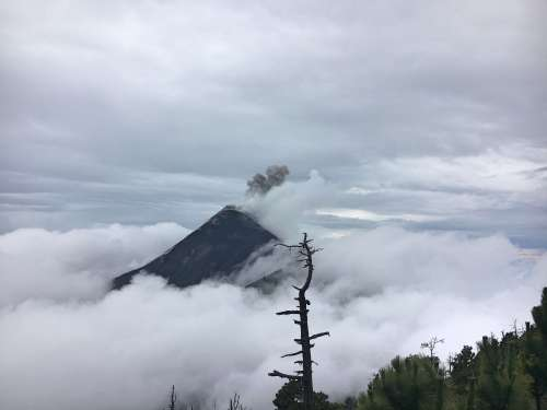 Fuego volcano view from Acatenango