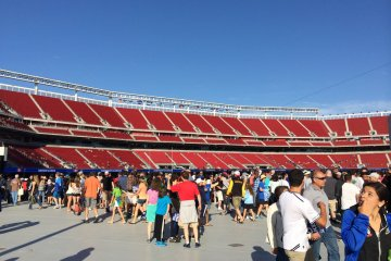 First view into the stadium