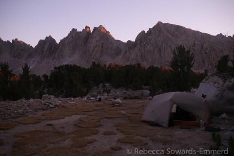 Camp below Kearsarge Pinnacles